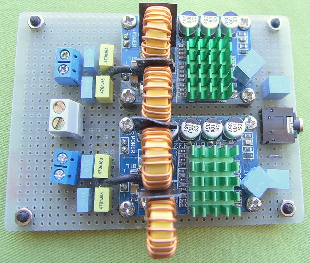 TDA8932 based class D power amplifier
